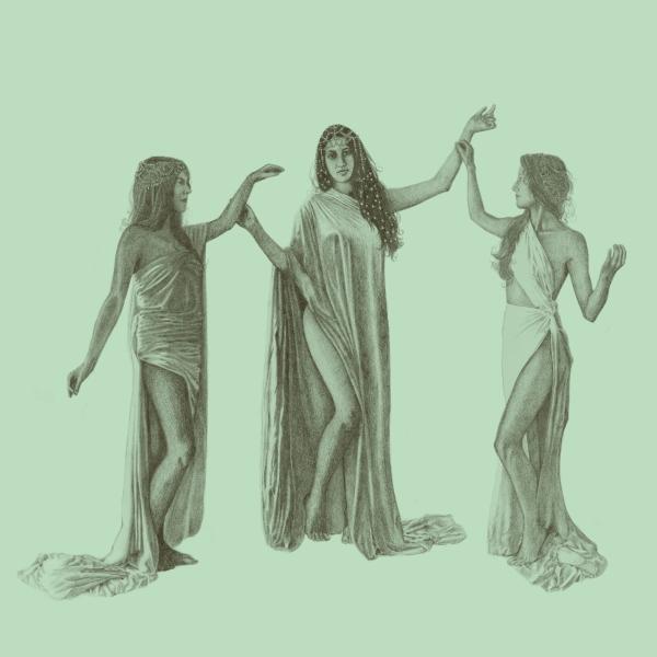 Die 3 Grazien mit Kalê, der Namensgeberin des Kräuterlikörs © Kalê
