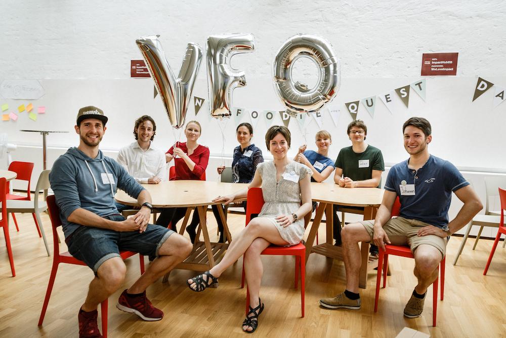 Das Vienna Foodie Quest-Team rund um Initiatorin Sarah Krobath © Jürgen Pletterbauer